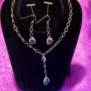 IOB vintage Avon teardrop giftset necklace earring